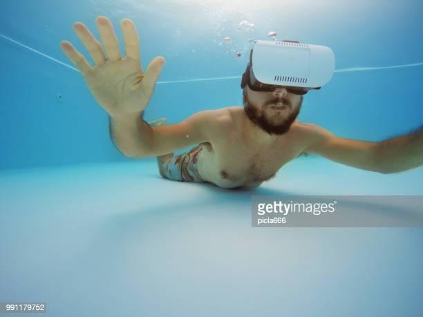 Vr headset sensory experience underwater