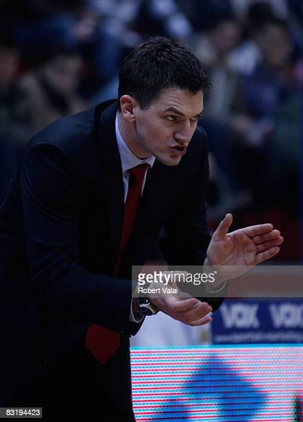 Vrankovic Josip Cibona coach in action during the Euroleague Basketball game 9 between Cibona Zagreb v Unicaja at the Basketball Centre Drazen...