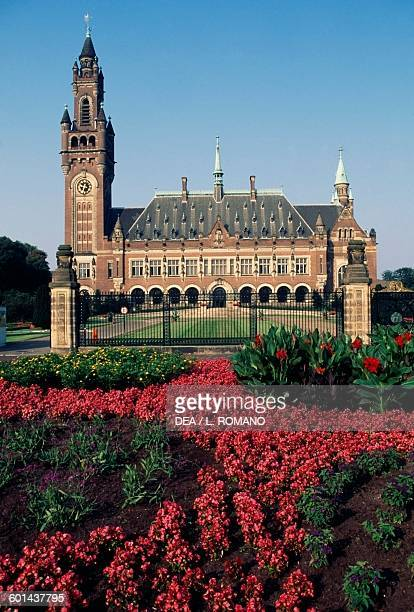 Vredespaleis, Peace Palace, seat of the International Court of Justice , The Hague, Netherlands.