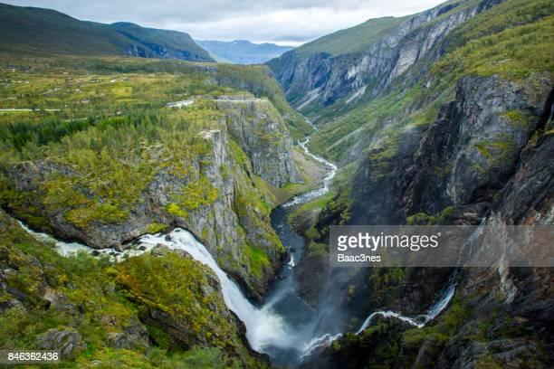 Vøringfossen waterfall in Eidfjord, Norway
