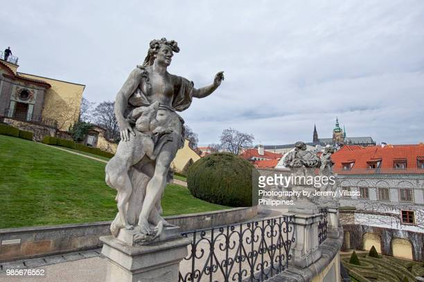 vrtba garden, prague - st vitus's cathedral stock pictures, royalty-free photos & images