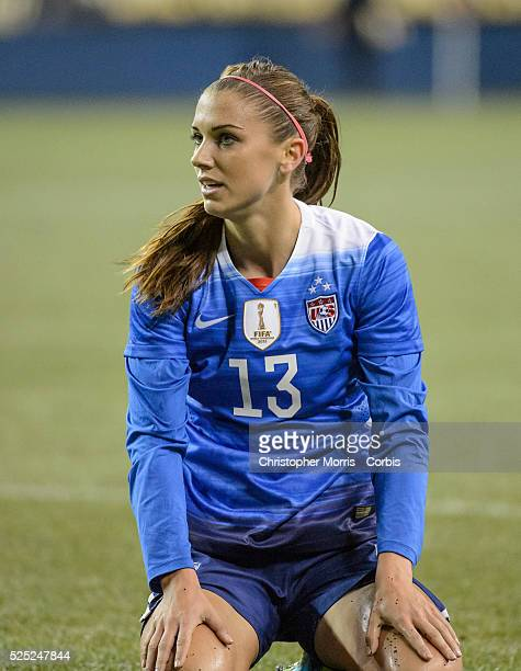 0d6b4ff0ee7 USA vs Brazil Women s Soccer USA forward Alex Morgan during an  International Friendly at CenturyLink Field