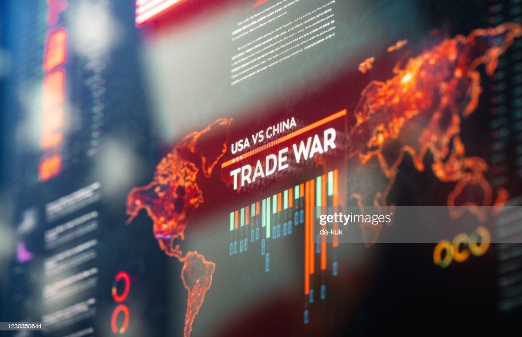 USA vs China Trade War : Stock Photo