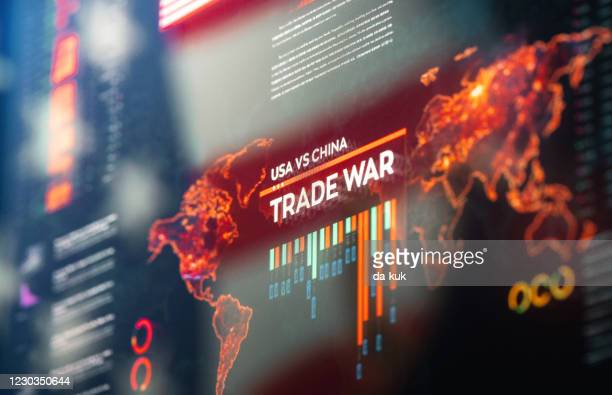 usa vs china trade war - trade war with china stock pictures, royalty-free photos & images