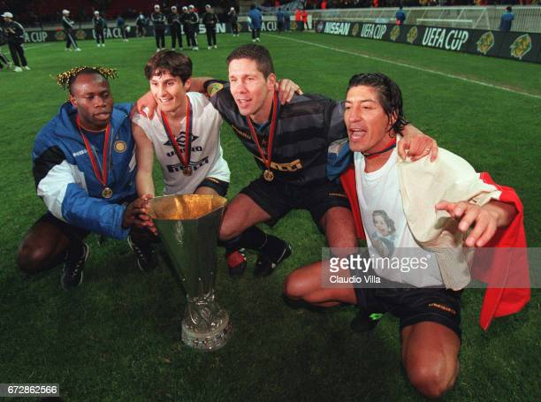 INTER vs LAZIO TARIBO WEST JAVIER ZANETTI DIEGO SIMEONE and IVAN