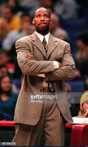 NETS vs LOS ANGELES CLIPPERS at Staples Center November 20 2000 Photo of New Jersey Nets head coach Byron Scott