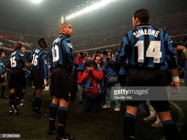 A INTER vs MILAN 22 RONALDO AND DIEGO PABLO SIMEONE OF