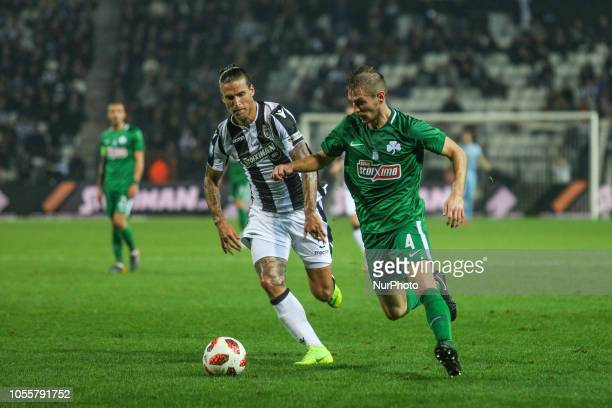 FC PAOK vs Panathinaikos FC 2 0 in Toumba stadium in Thessaloniki for the 8th round of the Greek Superleague Championship on 29th of October 2018...