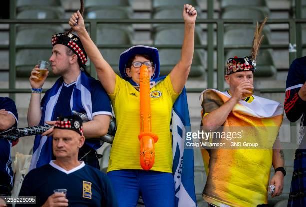 Vs SCOTLAND .KING BAUDOUIN STADIUM - BRUSSELS.Scotland supporters in high spirits pre match