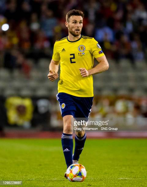 Vs SCOTLAND .KING BAUDOUIN STADIUM - BRUSSELS.Stephen O'Donnell in action for Scotland