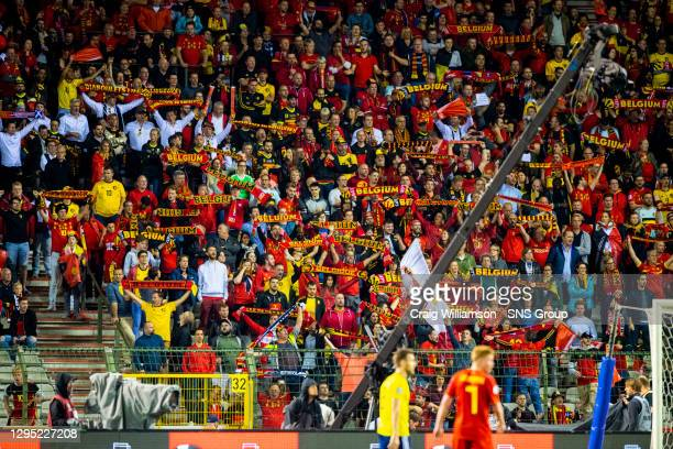 Vs SCOTLAND.KING BAUDOUIN STADIUM - BRUSSELS .Belgium' Fans