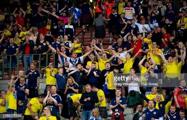 Vs SCOTLAND.KING BAUDOUIN STADIUM - BRUSSELS .Scotland fans