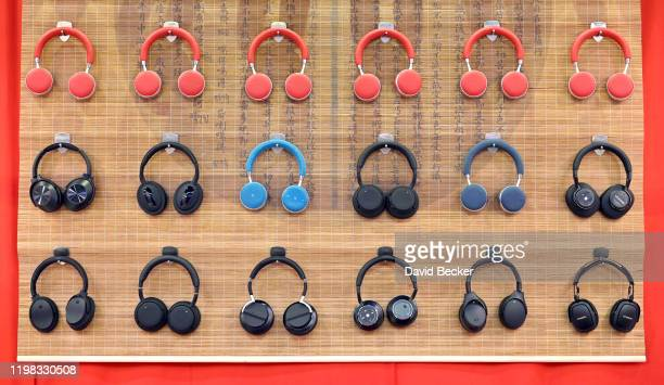 Vtsonic VT-H162 bluetooth headphones are displayed during CES 2020 at the Las Vegas Convention Center on January 8, 2020 in Las Vegas, Nevada. CES,...