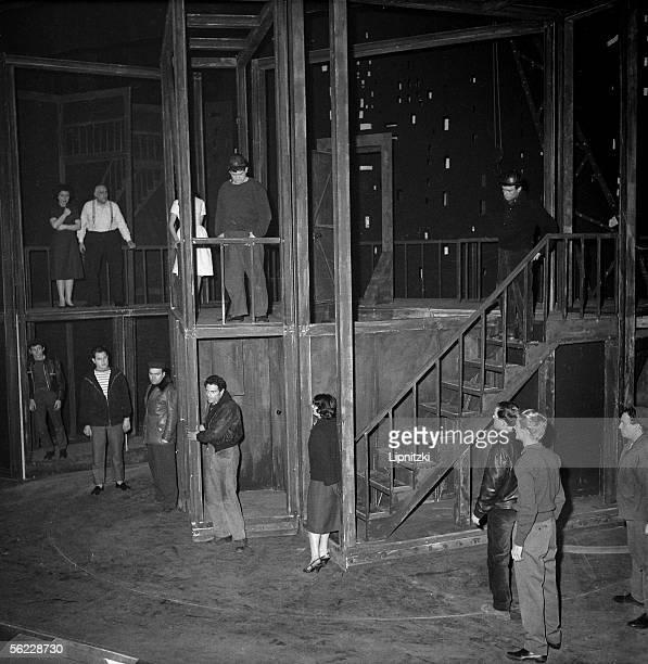 Vu du pont by Arthur Miller Marcel Ayme's adaptation Directed by Peter Brook Raf Vallone Lila Kedrova Marcel Bozzuffi and Jose Varella Paris theatre...