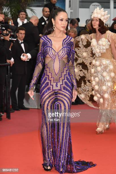 Vu Ngoc attends the screening of 'Burning' during the 71st annual Cannes Film Festival at Palais des Festivals on May 16 2018 in Cannes France
