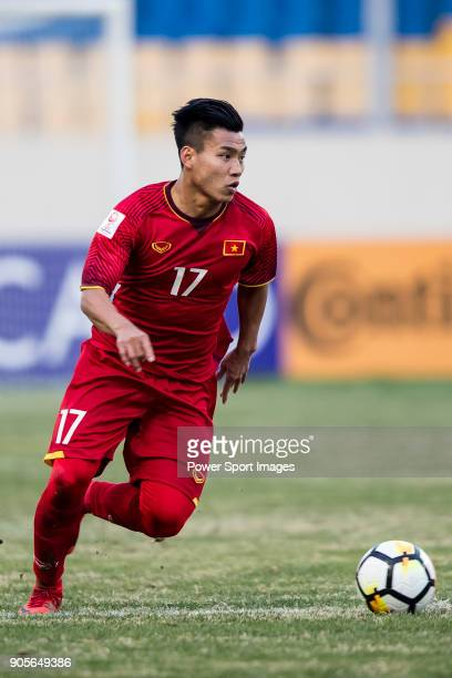 Vu Van Thanh of Vietnam in action during the AFC U23 Championship China 2018 Group D match between Vietnam and Australia at Kunshan Sports Center on...