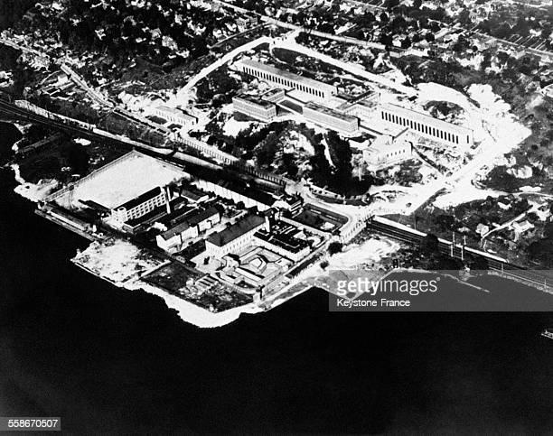 Vue aérienne de la prison de Sing Sing à New York City EtatsUnis en 1931