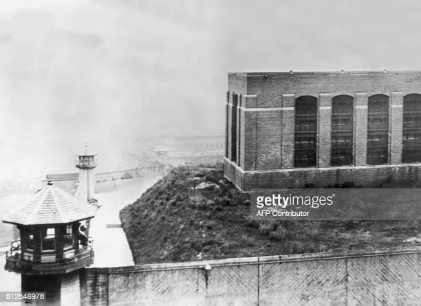Vue aérienne de la prison de Sing Sing à Ossining dans l'Etat de New York qui fut construite par des prisonniers et où Ethel et Julius Rosenberg...