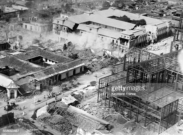Vue aérienne de la ville de Managua après le tremblement de terre qui l'a touchée en 1931 en 1931 à Managua Nicaragua