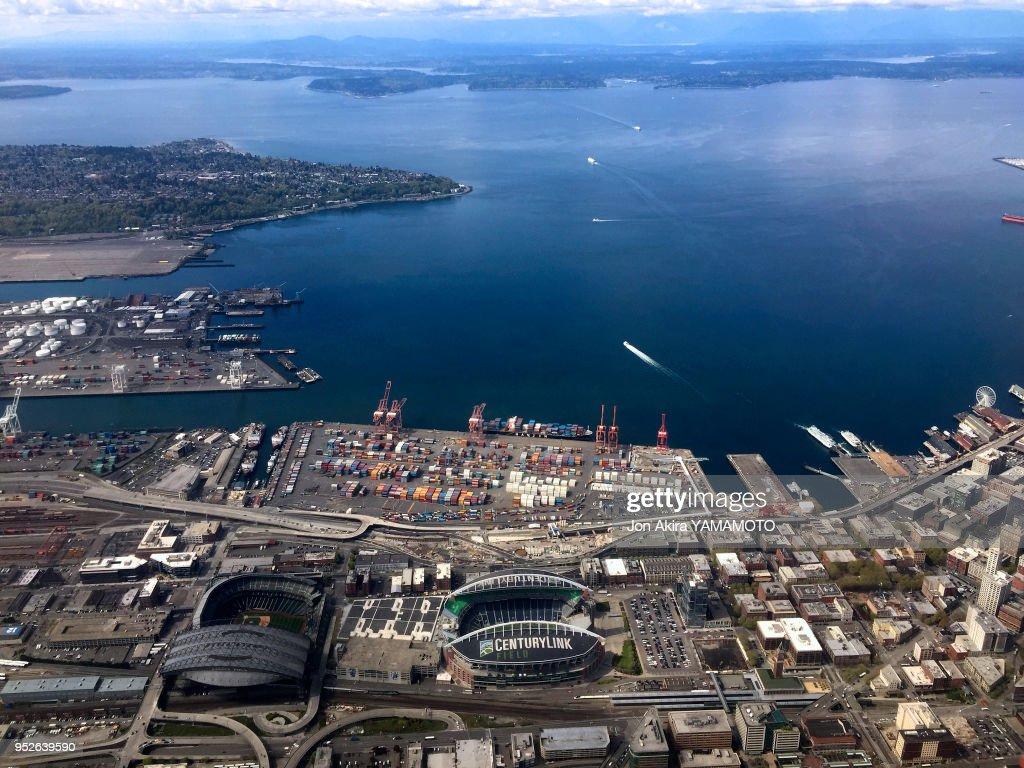 Vue Aérienne De Seattle état De Washington Etats Unis