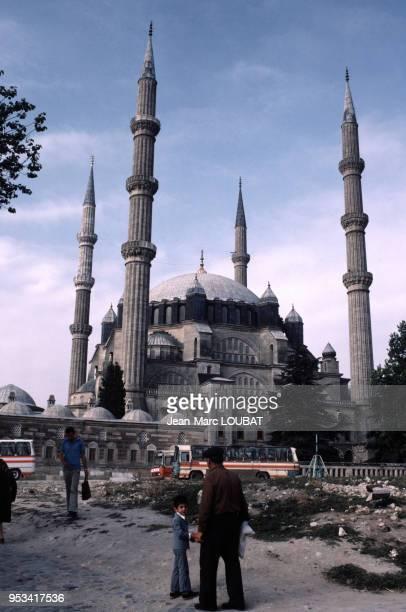 Vue de la mosquée Selimiye à Edirne en Turquie dans les années 80. Circa 1980.