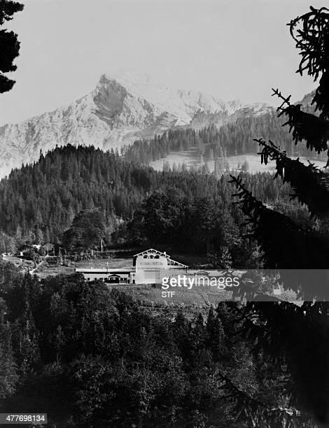 Vue de la villa de Berchtesgaden en bavière où Adolf Hitler établi un 'nid d'aigle' sous le IIIème Reich un des hauts lieux du régime nazi La...