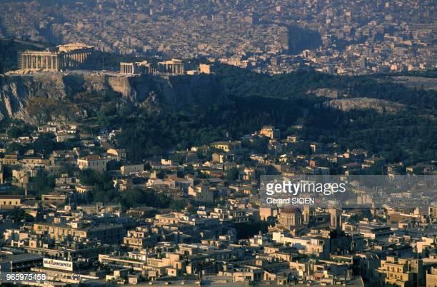 Vue de la ville d'Athènes en Grèce le 21 septembre 1989
