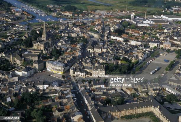 Vue de la ville de Carentan dans la Manche France