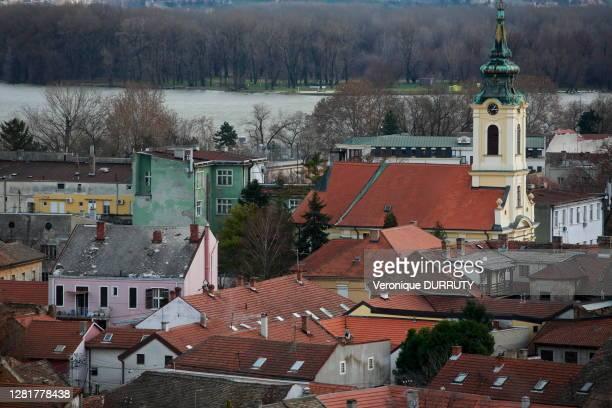 Vue de la ville et du Danube, 28 décembre 2017, Belgrade, Serbie.