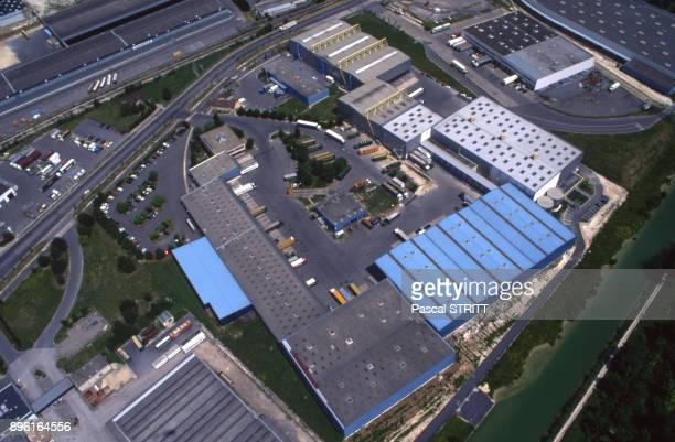 Vue de la zone industrielle Sudest de Reims dans la Marne France