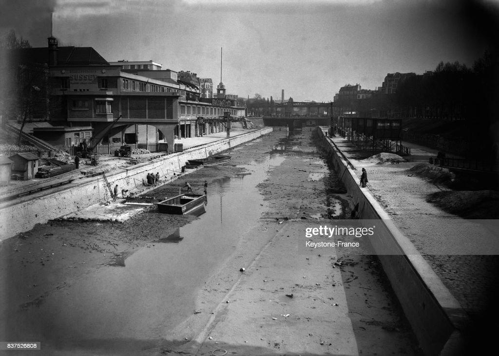 Canal Saint-Martin à sec : Fotografía de noticias