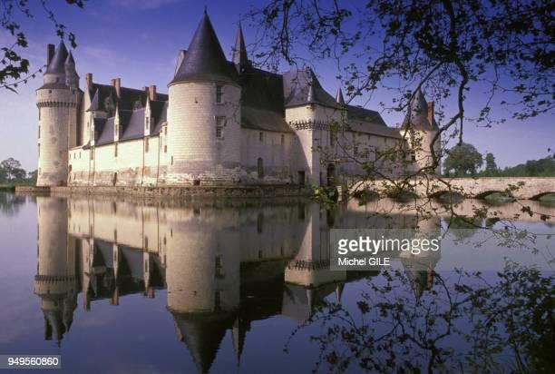 Vue du château du PlessisBourré et de ses douves à Ecuillé dans le MaineetLoire France