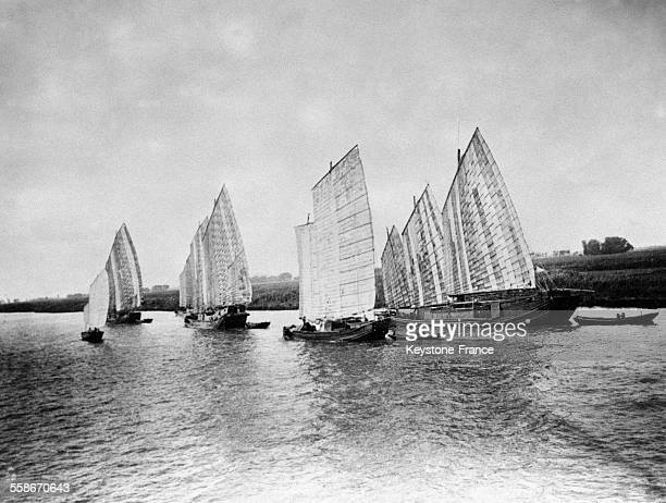 Vue du fleuve YangTsé ou Yangzi Jiang en Chine en 1931