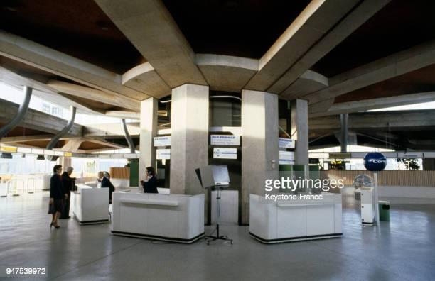 Vue du hall d'un terminal de l'aéroport Roissy en France