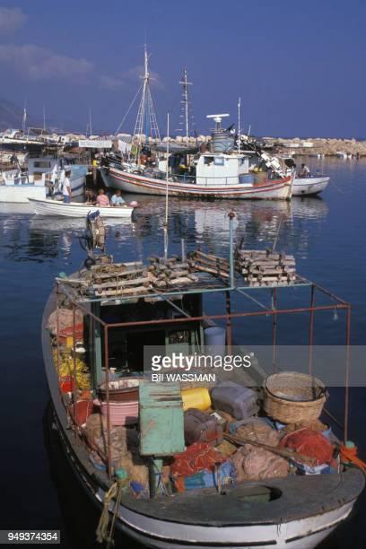 Vue du port de Latchi à Chypre.