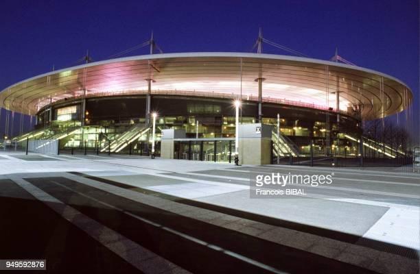 Vue du stade de France de nuit à SaintDenis en SeineSaintDenis