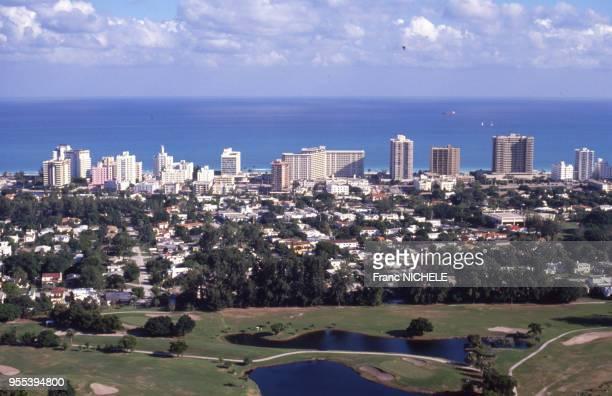 Vue d'un terrain de golf à Miami, en Floride, Etats-Unis.