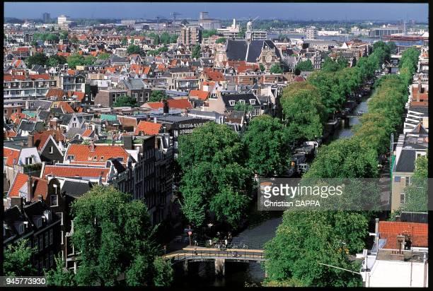 Vue gnrale de Prinsen Gracht Amsterdam PaysBas