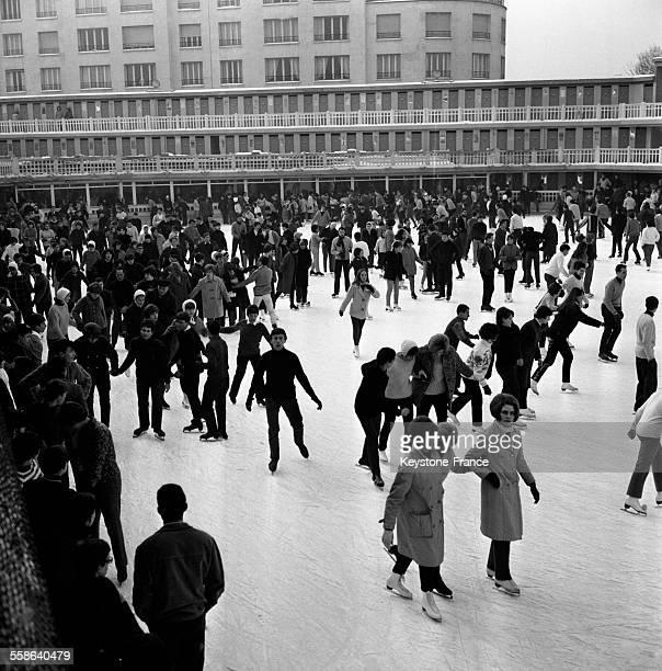 Vue partielle de la patinoire de Molitor Paris France le 17 janvier 1966
