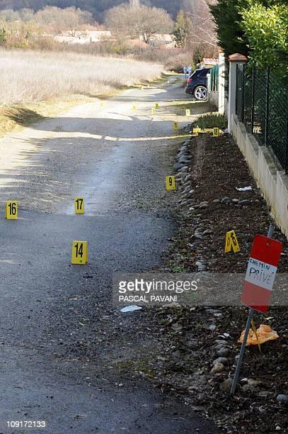Vue prise le 15 février 2011 d'un chemin de la commune de Bouloc où des effets personnels de Patricia Bouchon une joggeuse disparue depuis le 14...