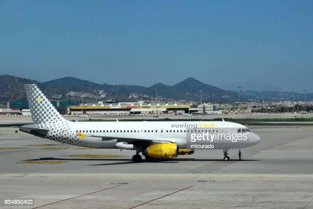 Vueling Airlines jet at Barcelona-El Prat Airport, Catalonia, Spain