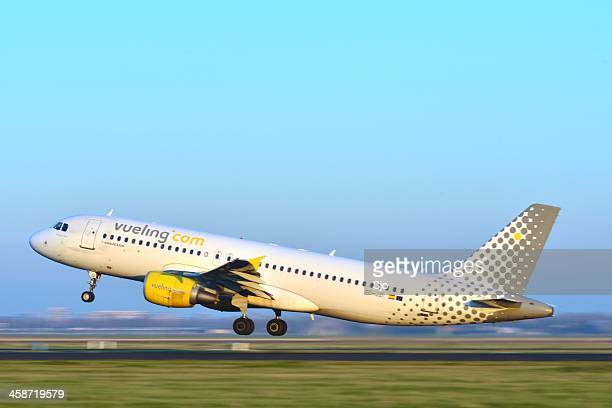 Vueling airlines plane taking off