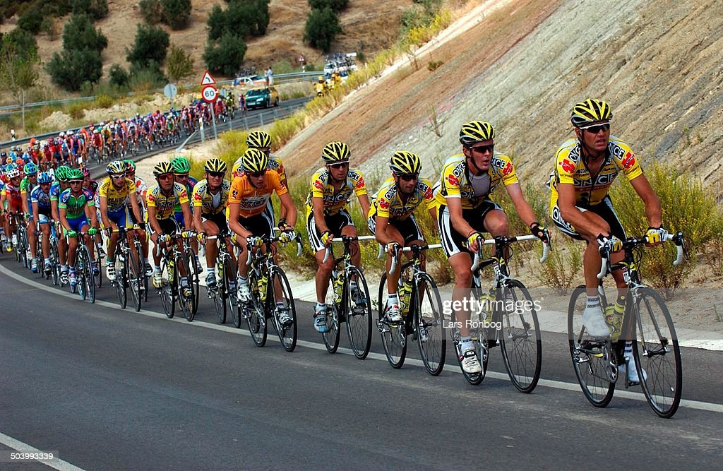 Vuelta a Espana, stage 16 - Once leading the peloton.