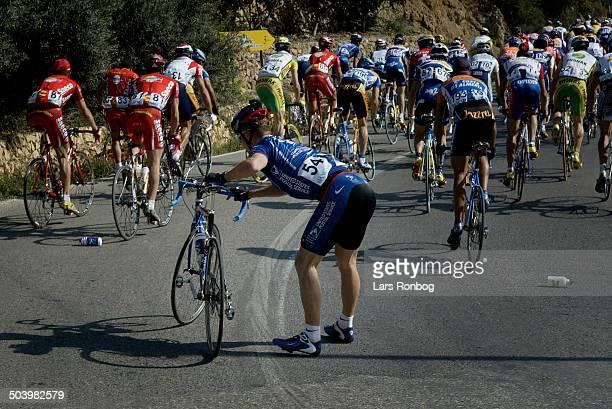 Vuelta Valenciana 1 etape Steffen Kjaergaard US Postal i styrt