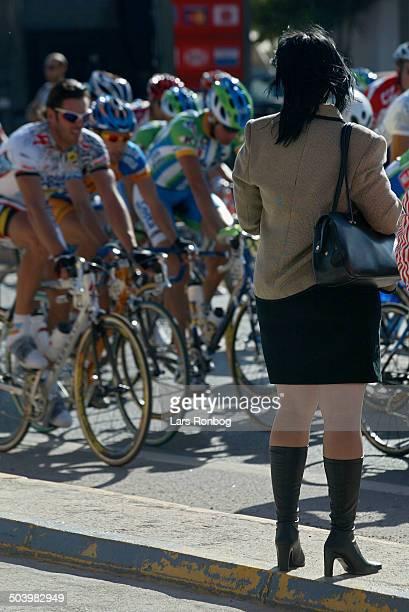 Vuelta Valenciana 2 etape Mario Cipollini Acqua Sapone passerer tilskuer