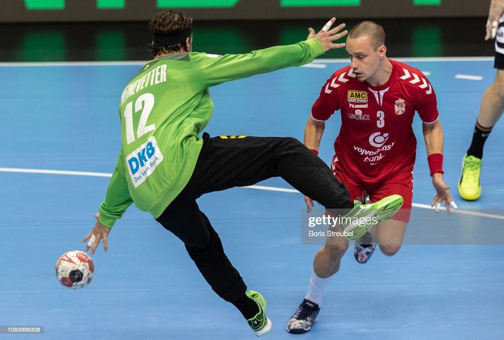 Vukasin Vorkapic of Serbia scores against goalkeeper Silvio... News Photo -  Getty Images