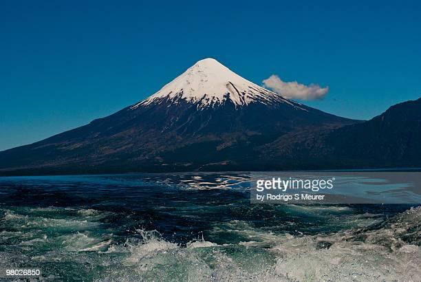 Vulcan Osorno reflected on lake