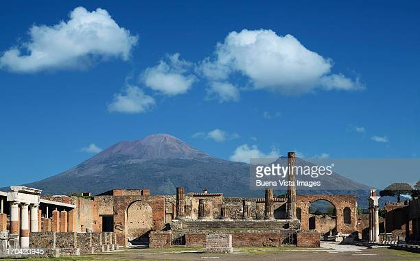 Vulcan Vesuvio and Pompei ruins, the Forum