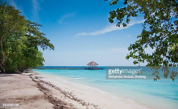 Vulnerable island of Maldives, Indian Ocean, Asia