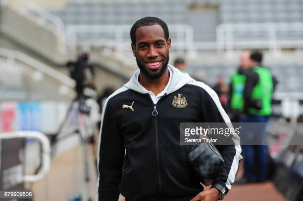 Vurnon Anita of Newcastle United arrives during the Sky Bet Championship Match between Newcastle United and Barnsley at StJames' Park on May 7 2017...